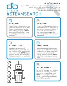 #STEAMSearch Robotics