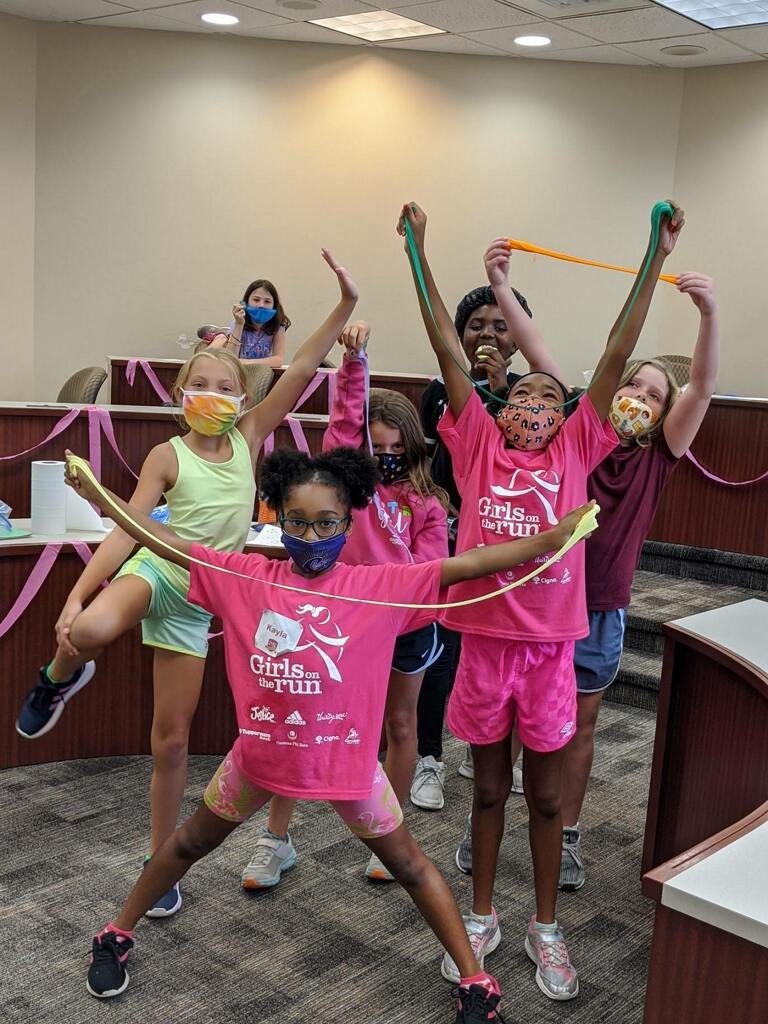 Campers from Girls on the Run Greater Charlotte