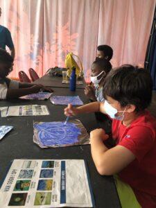 Summer STEAM Camp students at Immersive Van Gogh.
